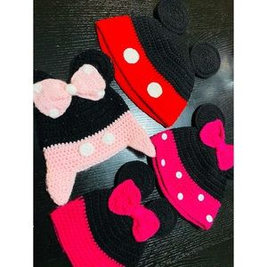 Disney handmade knit Mickey Mouse set